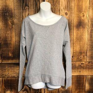 Lululemon Grey Scoop Neck Thumbhole Sweatshirt-12
